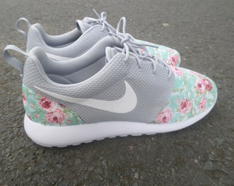 Items Similar To Custom Red Marble Quot Island Floral Quot Nike