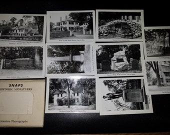 Vintage Souvenir Photo Mail Pack Concord Massachusetts Alcott Emerson Thoreau