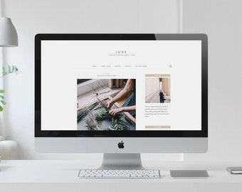 June: A Minimal Wordpress Theme for Bloggers