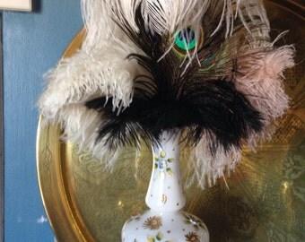 English antique opaline vase