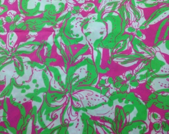 Lilly Pulitzer Preppy Fabric Hotty Pink Forgot My Trunks