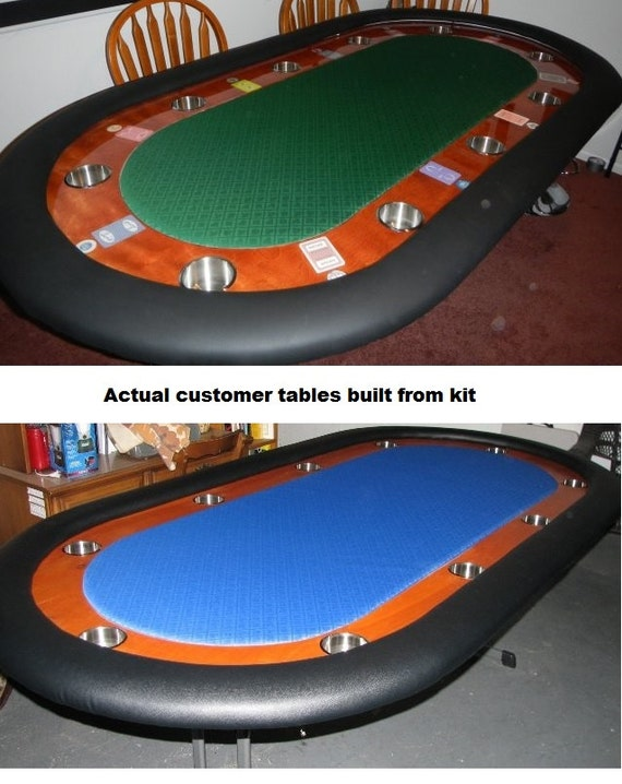 Diy 8 39 standard racetrack custom poker table building kit 13 color choices build your own - Build your own poker table ...