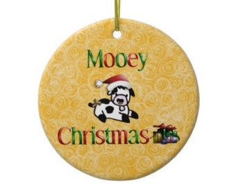 Calf Mooey Moorry Christmas Cow Christmas Ornament Merry Christmas Humor Custom Made And Personalized Personalization