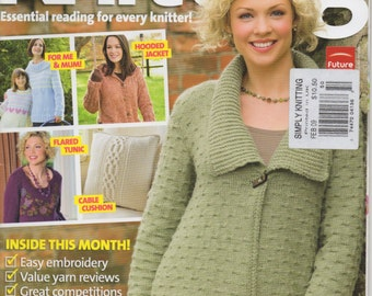 Simply Knitting Magazine  -  Issue 50  -  February 2009  -  Alan Dart's Simply the Sheep, Jackets, Cushion Cover, Gloves, Tunic, and more...
