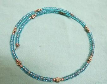 Aqua Blue Choker Necklace