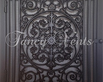 Decorative Cast Iron Vent Cover - 24 x 24 Traditional