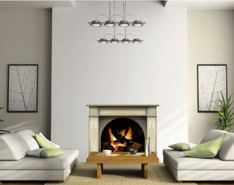 Fireplace Vinyl Sticker With Burning Fire Flames, Wall Decoration Living  Room Wall Stickers, Graphics Part 38