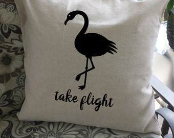 Flamingos!  Playful flamingo pillow cover adds fun and whimsy to your decor!