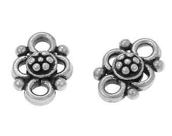 Handmade Oxidized Sterling Silver Chandelier Connector - 2 pcs.