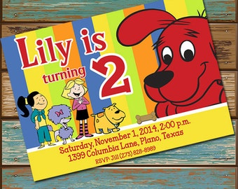 Clifford the Big Red Dog Personalized Digital Invitations