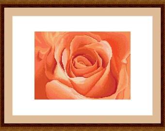 Rose - Cross stitch pattern PDF - Instant download