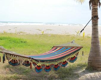 Nicaraguan Handmade Multi-Color Hammock