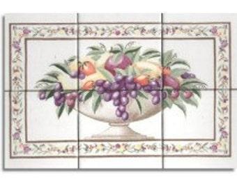 Kitchen Tiles Fruit Design fruit tile | etsy