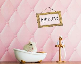 Daisy loves baths