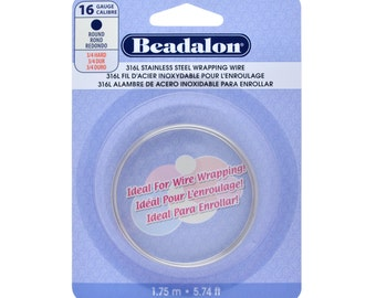 16G (316L) Stainless Steel - (Round) Wire-Wrapping Wire by Beadalon