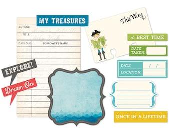 October Afternoon ~ Treasure Map Cardstock Die-Cuts ~ 11/pkg