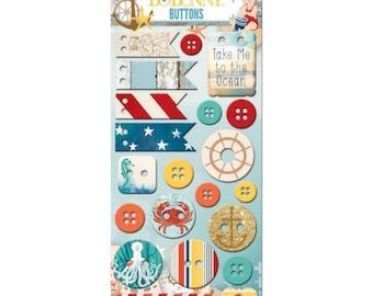 Bo Bunny~Boardwalk Buttons
