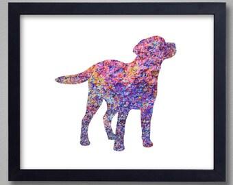 Labrador Art Print - Proceeds to Shelters - Dog Wall Art - Abstract Digital Animal Painting