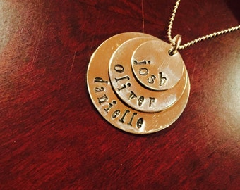 Customized Layered Circles Necklace