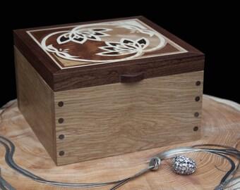 Lotus Flower Wooden Jewellery Box
