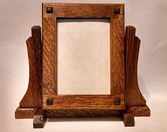 Arts and Crafts/Mission Style Freestanding Tilting Picture Frame