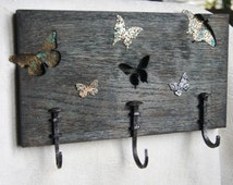 Decorative forged hanger, Creative hanger, A cool hanger, Hanger for interiors, Hanger for keys, shabby Chic, country style, One of a kind.