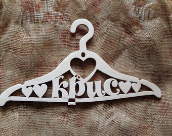 Custom Wedding Dress Hanger / Bridal Dress Hanger / Bridal Gift