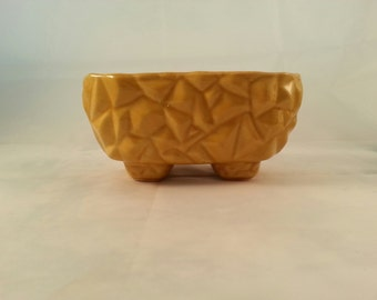 Vintage Yellow Ware Table top Planter- McCoy-Brush