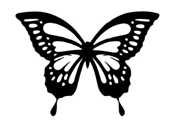Soft image intended for butterfly stencil printable