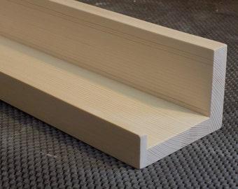 "Unfinished 36"", 38"", 40"", Or 42 Inch, Floating ledge Shelf, Picture ledge Shelf, You Choose Your length"
