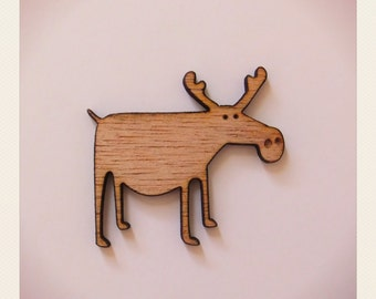 Chocolate Moose Brooch