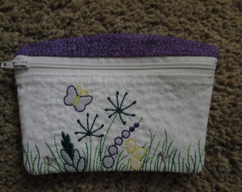 Small Zippered Purple Bag