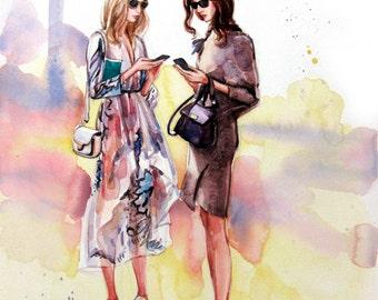 Fashion Illustration Print. Sophia.b