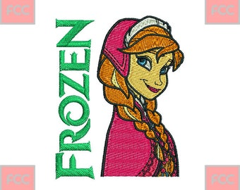 Anna Frozen Full Stitches Machine Embroidery Design in 4 sizes **INSTANT DOWNLOAD**