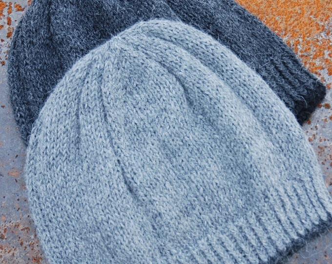 Gents luxury pure alpaca beanie hat