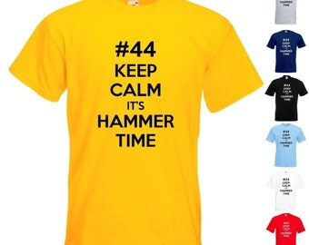 Keep Calm It's Hammer Time - Mens/Adult Novelty Tshirt