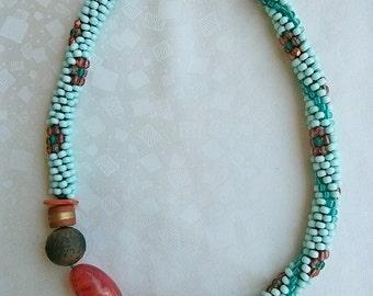 item 102 - handmade bead necklace