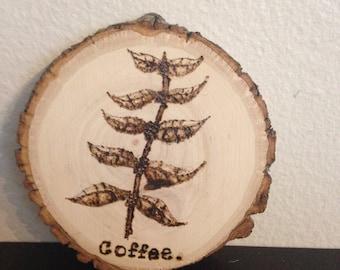 Coffee plant coaster