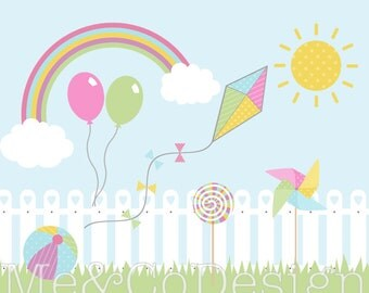 Fun Day Clipart, Fun Cute Clipart, Party Instant Download, Personal and Commercial Use Clipart, Digital Clip Art