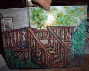 Wooden Deck print