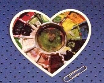 I Love Painting Bumper Sticker - Paint Heart