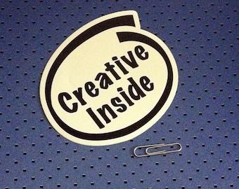 Creative Inside Bumper Sticker