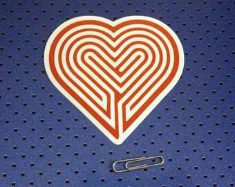 Labyrinth Heart Bumper Sticker