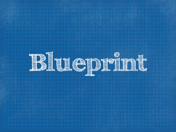 blueprint powerpoint background template