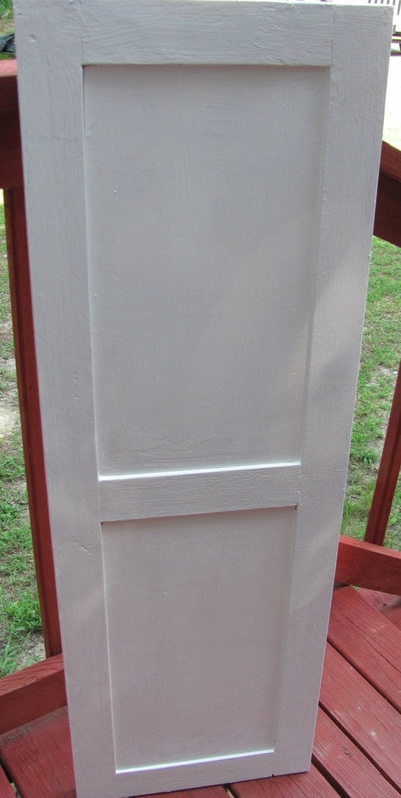 Shaker Style Flat Panel Wood Exterior Shutter From