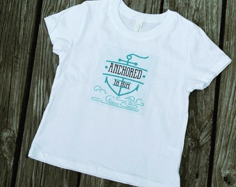 Anchored in Him--Toddler Tee