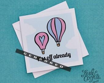 Funny leaving card, Rude leaving card, Cheeky leaving card, Funny Miss You card, Travelling Card, Leaving Job Card, Moving away card