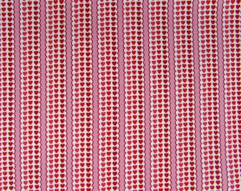 2 Yards Hearts and Stripes Fabric By QT