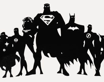 JLA - Justice League of America - Silhouette