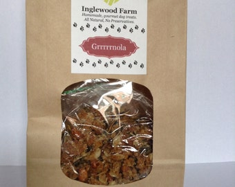 Dog Treat Granola, Grrrrrnola, Healthy Dog Treat